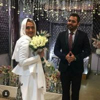 مراسم ازدواج فریبا باقری و همسرش مصطفی گلستانیان + تصاویر مراسم عقد مجری زن