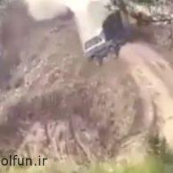 فیلم مصدومیت شدید و دلخراش راننده ماشین حین بدلکاری در سریال پایتخت ۵