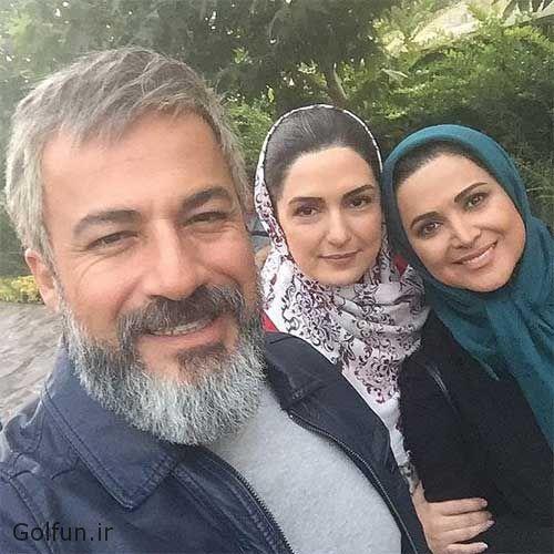 امیر آقایی ، کمند امیرسلیمانی و مریم شیرازی پشت صحنه سریال نوار زرد