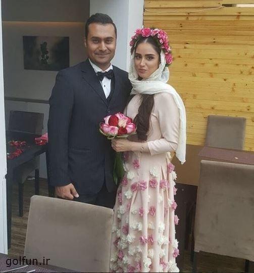 عکس مراسم ازدواج هانیه غلامی و همسرش