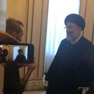 امیر تتلو و ابراهیم رییسی: امیر تتلو خواننده رپ در دیدار با سید ابراهیم رییسی