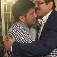 عکسهای مراسم آشتی کنان و روبوسی علیرضا دبیر و عباس جدیدی بعد از کتک کاری