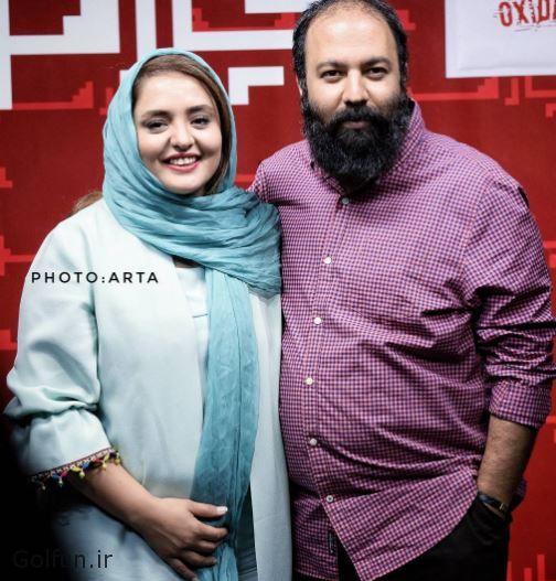 عکس های جدید علی اوجی و همسرش نرگس محمدی در مراسم اکران فیلم اکسیدان