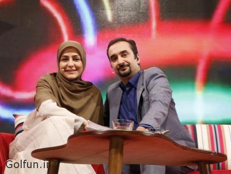 فیلم در آغوش گرفتن و روبوسی نیما کرمی و همسرش زینب زارع در برنامه زنده دعوت