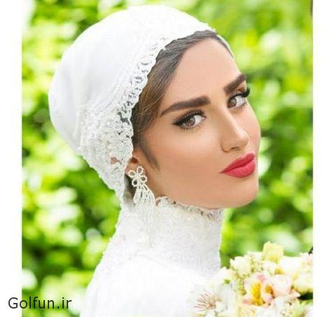 مدل لباس عروس بازیگر زن ایرانی + بوسه جنجالی هانیه غلامی و همسرش