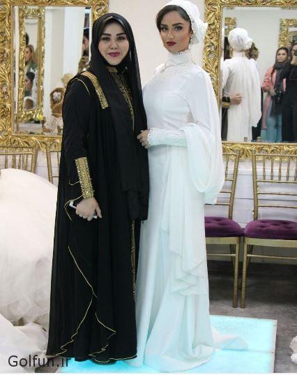 مدل لباس عروس بازیگر زن ایرانی هانیه غلامی