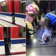 فیلم تصادف قطار مترو تهران + عکس تصادف شدید دو قطار متروی تهران