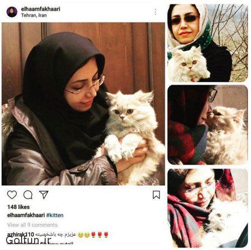 ماجرای پیوستن الهام فخاری عضو شورای شهر به کمپین گربه ها + عکس