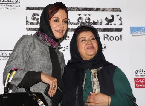 عکس بازیگران معروف در مراسم اکران فیلم زیر سقف دودی پوران درخشنده