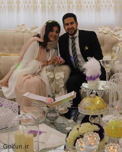 ازدواج نیوشا افشار و همسرش + عروسی نیوشا افشار بازیگر و شطرنج باز