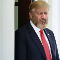 شباهت حمید فرخ نژاد به دونالد ترامپ رییس جمهور آمریکا + عکس