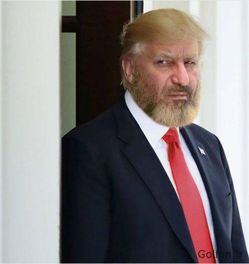golfun.ir 121 - شباهت حمید فرخ نژاد به دونالد ترامپ رییس جمهور آمریکا + تصاویر