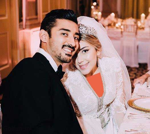 تصاویر مراسم عرسی رضا قوچان نژاد و همسرش سروین بیات