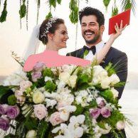 تصاویر مراسم ازدواج و فیلم عروسی بوراک اوزچویت و همسرش فخریه اوجن