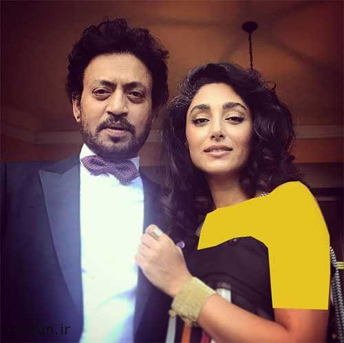 عکس عاشقانه گلشیفته فراهانی و عرفان خان بازیگر مشهور هندی