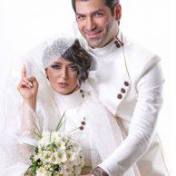مراسم ازدواج فریبا طالبی و همسرش امیر صد هزاری + بیوگرافی فریبا طالبی و همسرش