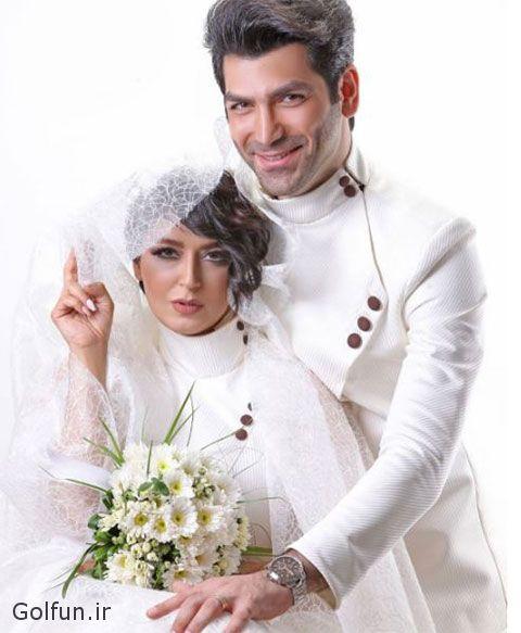 مراسم ازدواج فریبا طالبی و همسرش امیر صد هزاری