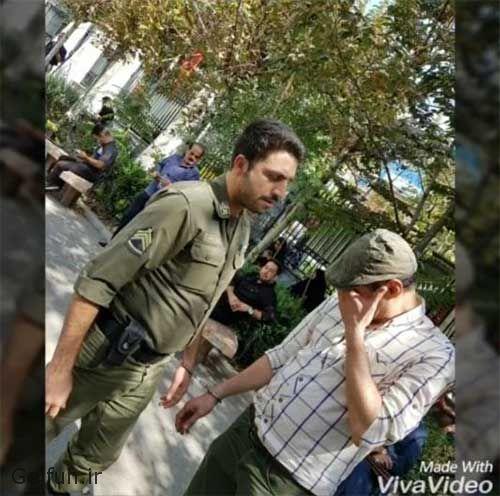 فیلم بازداشت رامین پرچمی بازیگر به علت بدهی 26 میلیون تومانی