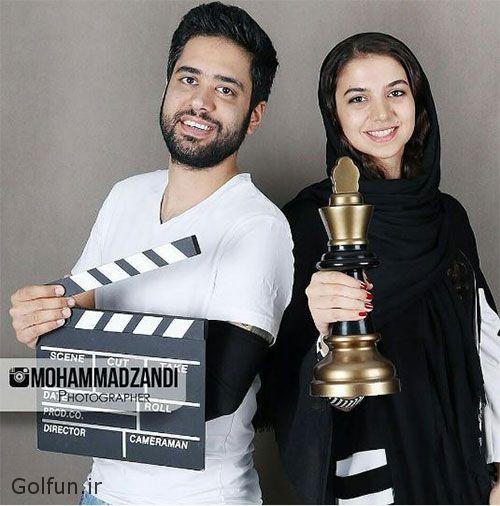 ازدواج سارا خادم الشریعه و همسرش اردشیر احمدی