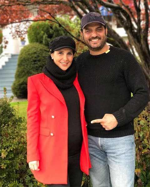 عکس حاملگی همسر سام درخشانی