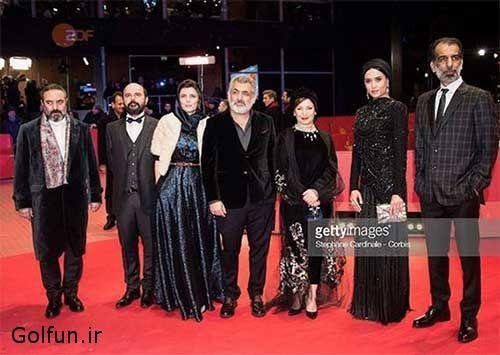بازیگران فیلم خوک در مراسم فرش قرمز جشنواره فیلم برلین دانلود فیلم خوک